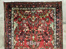 2x6 VINTAGE RUNNER RUG WOOL HAND KNOTTED antique red handmade carpet 2x7 3x6 3x7