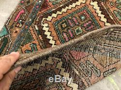 2x9 ANTIQUE HERIZ RUNNER RUG WOOL HAND KNOTTED vintage handmade oriental 3x9 2x8