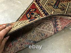 2x9 ANTIQUE RUNNER RUG HAND KNOTTED VINTAGE worn oriental narrow tribal 2x8 2x10