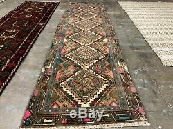 2x9 ANTIQUE RUNNER RUG WOOL HAND KNOTTED vintage handmade oriental woven 3x9 2x8
