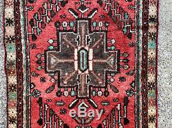 2x9 PERSIAN RUNNER RUG WOOL HAND KNOTTED IRAN ANTIQUE HERIZ vintage 3x9 2x10 ft