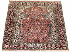 3'1 x 4'11 Vintage Hand-Knotted Traditional Oriental Wool Area Rug