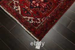 3'2'' x 10'4'' Vintage Runner Hand Knotted Wool Herizz Oriental Area Rug Red