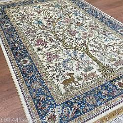 3.3'x5' Beautiful Tree Of Live Birds Persian Silk Carpets Hand Knotted Area Rugs
