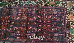 3'4x9'10 Vintage Tribal Kurdish Turkish Wool Rug Oriental Carpet Handmade Runner