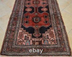 3'6 x 9 Vintage Dated 1957 Tribal Azerbaijani Wool Rug Oriental Handmade Runner