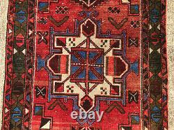 3x10 ANTIQUE RUNNER RUG WOOL HAND-KNOTTED VINTAGE handmade handwoven caucasian
