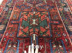 3x10 ANTIQUE RUNNER RUG WOOL HAND KNOTTED VINTAGE handmade oriental tribal 3x11
