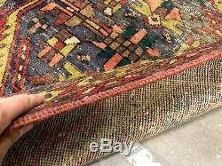 3x10 ANTIQUE RUNNER RUG WOOL HAND KNOTTED handmade worn oriental heriz vintage