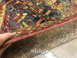 3x10 ANTIQUE RUNNER RUG WOOL HAND KNOTTED handmade worn oriental tribal vintage