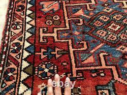 3x10 ANTIQUE RUNNER RUG WOOL HAND KNOTTED vintage worn handmade geometric tribal