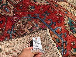 3x11 ANTIQUE RUNNER RUG WOOL HAND-KNOTTED VINTAGE worn handmade caucasian 3x10