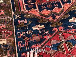 3x11 ANTIQUE RUNNER RUG WOOL HAND-KNOTTED vintage kazak handmade geometric 4x11
