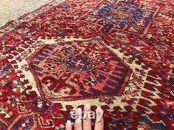 3x13 ANTIQUE RUNNER RUG WOOL HAND-KNOTTED vintage handmade geometric 3x12 4x12