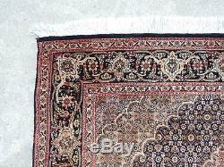 3x5ft. Vintage Persian Mahi Wool/Silk Tabriz Rug