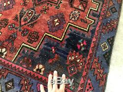 3x9 ANTIQUE RUNNER RUG HAND KNOTTED VINTAGE heriz caucasian oriental handmade