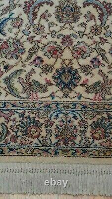 4'3 x 6' Karastan 700-738 Ivory Tabrizz Wool American Area Rug Birds Deer