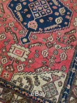 4.4 x 6.5 Antique Persian Rug Malayer Heriz Serapi Turkish vintage