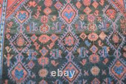 4'5x6'9 Vintage Tribal All Over Design Handmade Wool Area Rug Estate Carpet 4x7