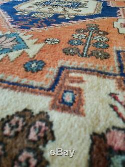 4.7 x 6.9 Vintage Bijar Perssian Heriz Rug Serapi Kazak Caucasian Design