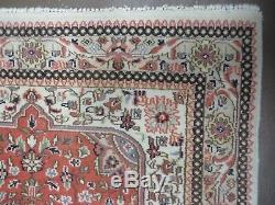 4' X 6' Vintage Hand Made PERSIAN Tabriz Tabataba Wool Rug Nice