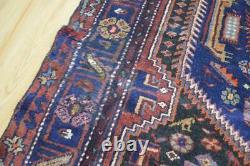 4 x 7'8 Plush Vintage Authentic Kurdish Tribal Touserkan Handmade Wool Area Rug