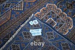 4 x 7 ft Handmade vintage afghan tribal baluchi shindand wool persian area rug