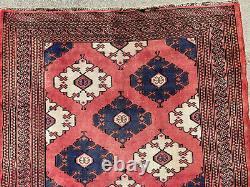 4x6 VINTAGE WOOL RUG HAND-KNOTTED oriental antique handmade old kazak caucasian