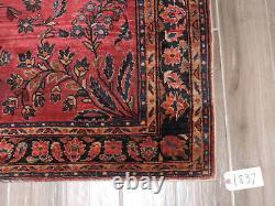 4x6ft. Antique Handmade Sarouk Wool Rug