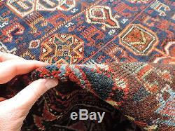 4x6ft. Vintage Persian Shiraz Quasqui Tribal Wool Rug