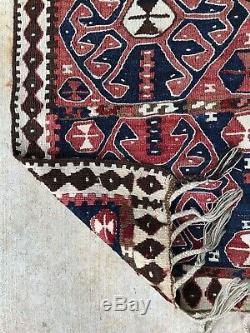 4x7 PERSIAN TRIBAL KURDISH AUTHENTIC WOOL VINTAGE HANDMADE TURKISH KILIM RUG