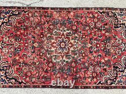 4x7 VINTAGE WOOL RUG MUTED HAND-KNOTTED ANTIQUE ORIENTAL CARPET runner 3x7 4x8