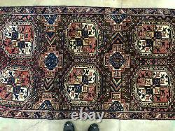 4x8 ANTIQUE WOOL RUG HAND-KNOTTED oriental vintage HANDMADE handwoven carpet 4x7
