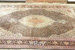 £5000 Persian Tabrizz Mahi silk and wool handmade hand knotted rug 300 x 200 cm
