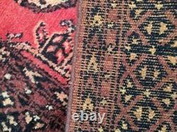 50191 Vintage Afghan Hand Woven carpet flatweave runner Turkish Area Rug 10x2 ft