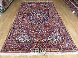 5' X 9' Vintage Hand Made Persian Bakhtiyari Varamin Wool Veg Dyes Rug Nice