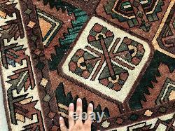 5x7 ANTIQUE RUG WOOL HAND KNOTTED VINTAGE worn oriental HANDMADE carpet 4x7 4x6