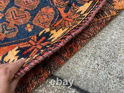 5x7 RUST VINTAGE WOOL RUG HAND-KNOTTED oriental old antique handmade 4x7 5x6 4x6