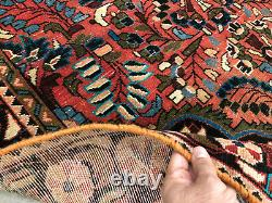 5x7 VINTAGE WOOL RUG HAND-KNOTTED oriental HANDMADE antique handwoven 4x6 5x6 ft