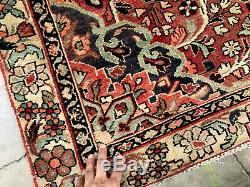 5x7 VINTAGE WOOL RUG HAND KNOTTED oriental HANDMADE antique handwoven carpet 4x6