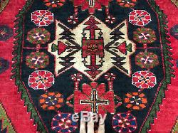 5x7 VINTAGE WOOL RUG HAND KNOTTED oriental HANDMADE antique heriz 4x6 4x7 5x6 ft