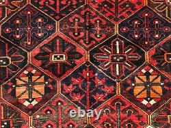 5x7 VINTAGE WOOL RUG HAND-KNOTTED oriental handmade antique caucasian old 5x6 ft