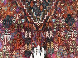 5x8 ANTIQUE CAUCASIAN PERSIAN RUG HAND KNOTTED WOOL handmade vintage heriz 5x9