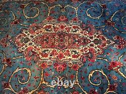 6' 5 X 11' 1 very Rare super fine sarouk sarough Hand knotted rug carpet