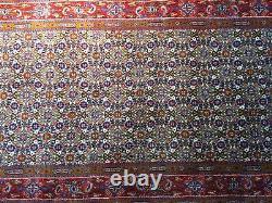 6' 5 X 2' 8 super fine fish mahi Hand Made Wool Runner Rug silk carpet