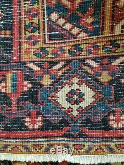 6.9 x 9.1 Vintage Finest Persian Heriz Rug Serapi Antique