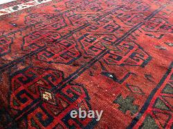 6x7 VINTAGE RUG HAND KNOTTED WOOL antique geometric handmade oriental 5x7 5x6 ft