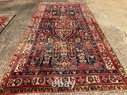 6x9 BLUE ANTIQUE RUG HAND-KNOTTED VINTAGE wool handmade handwoven 6x10 5x9 5x10