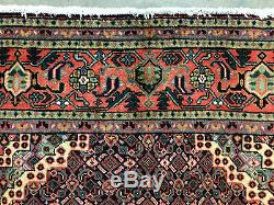 6x9 BLUE ANTIQUE RUG HAND KNOTTED WOOL ORIENTAL vintage handmade carpet 6x10 ft