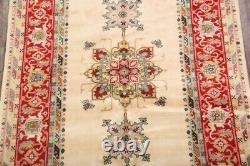 6x9 Geometric CREAM Ardebil Oriental Area Rug Hand-Knotted Room Size Carpet WOOL